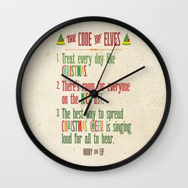 Buddy the Elf! The Code of Elves Wall Clock