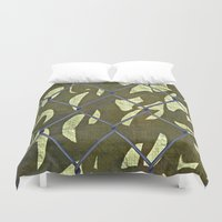 camouflage Duvet Covers featuring Camouflage  by Ethna Gillespie