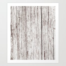 Pale Brown Wood Cottage Chic Rustic Wood Grain Texture Art Print