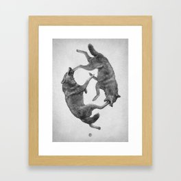 Two Wolves : Cherokee Tale Framed Art Print