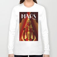 mars Long Sleeve T-shirts featuring Mars by Emanuel Afonso