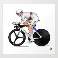 Vasil Kiryienka - Individual Time Trial world champ Art Print