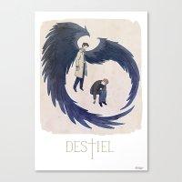 destiel Canvas Prints featuring Supernatural - Destiel by Collectif PinUp!