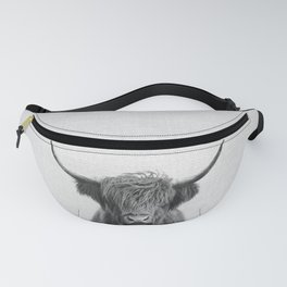 Highland Cow - Black & White Fanny Pack