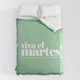 Viva el martes! Duvet Cover