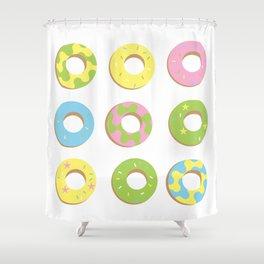 digital donuts Shower Curtain