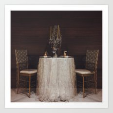 The Romance of a Table for Two Art Print