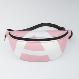 A MONOGRAM (WHITE & PINK) Fanny Pack