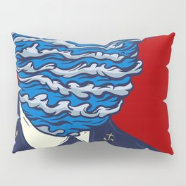 Captain of the Salty Waves Pillow Sham