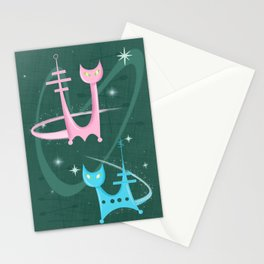 Atomic Rocket Cats In Space Stationery Cards