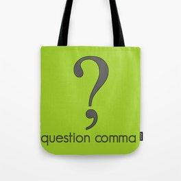 Question Comma Tote Bag