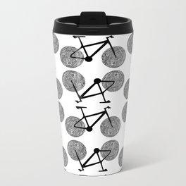 Bicycle Print Metal Travel Mug