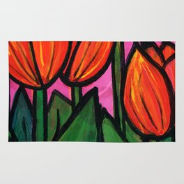 Tulips at Sunset Rug