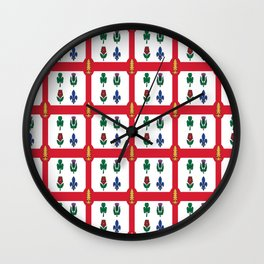 Flag of montreal -montrealais,montrealer,montreales,quebec, canada. Wall Clock