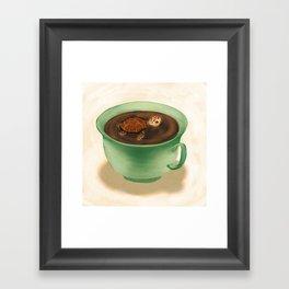 Tea Turtle Framed Art Print