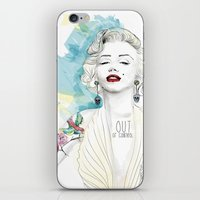 marylin monroe iPhone & iPod Skins featuring Marylin Monroe  by sarah rie