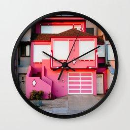 Pink House // San Francisco Wall Clock