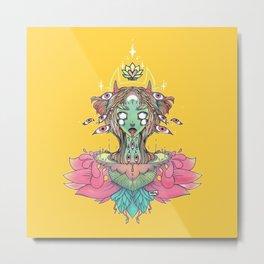Sacred Lotus Blossom Monster Girl Metal Print