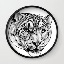 Big cat - Snow Leopard Wall Clock