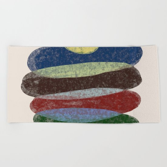 Stay On Top - Abstract, textured, pastel layers Beach Towel