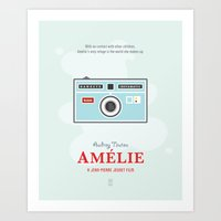 amelie Art Prints featuring Amelie by Smile In The Mind