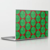 death star Laptop & iPad Skins featuring Star Wars Christmas Death Star by foreverwars