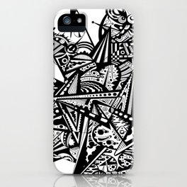 Black geometry by Andreas Handgruber iPhone Case