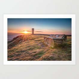 The last sunrise in April Art Print