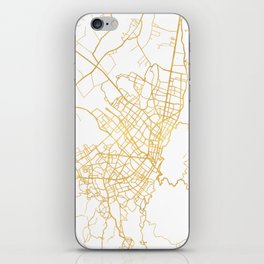 BOGOTA COLOMBIA CITY STREET MAP ART iPhone Skin