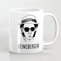 royal tenenbaums Mugs featuring Heinsbergen (Royal Tenenbaums/Breaking Bad) by Tabner's