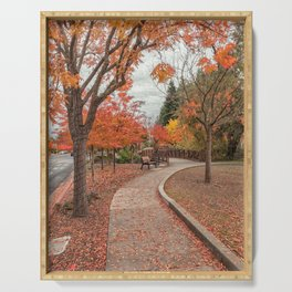 A Walk in Autumn Serving Tray