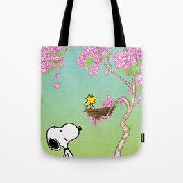 snoopy sakura feel the life Tote Bag