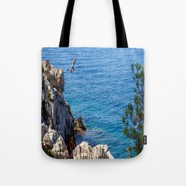Cap Ferrat Cliff Jumpers Tote Bag