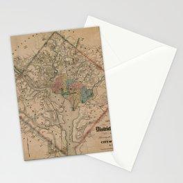 Vintage Washington DC Civil War Defenses Map (1864) Stationery Cards