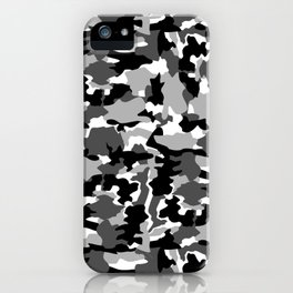 black and white Background Pattern Camo iPhone Case