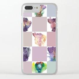 Verronica Kirei's Vulva Portrait Quilt Clear iPhone Case