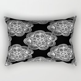 Tangled Mandala Pattern Rectangular Pillow