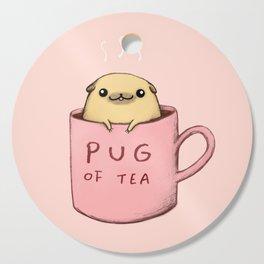 Pug of Tea Cutting Board