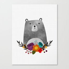 Bear Print Canvas Print