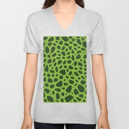 Cell Pattern Unisex V-Neck
