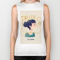 pride and prejudice Biker Tanks featuring Pride and Prejudice by Nan Lawson