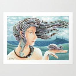 Portrait by the sea 2 Art Print