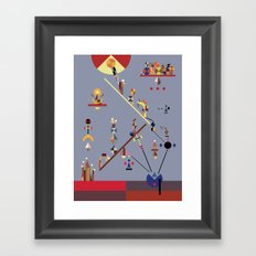 the ladder Framed Art Print