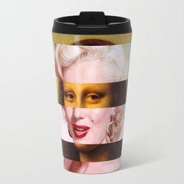 "Leonardo Da Vinci's ""Mona Lisa"" & Marylin Monroe Travel Mug"