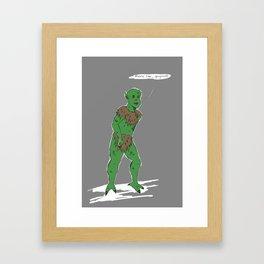 Dirtbag Grendel Framed Art Print