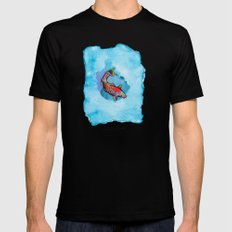 Small Fish. Small Pond. Black MEDIUM Mens Fitted Tee