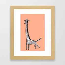 Giraffe Kick Framed Art Print