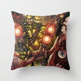 THE FUCKING FROGMAN Throw Pillow