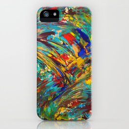 FIREWORKS IN COLOR - Bold Abstract Acrylic Painting Lovely Masculine Colorful Splash Pattern Gift iPhone Case