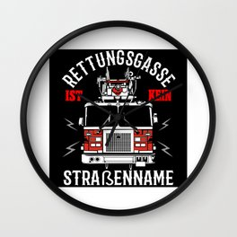 Firefighters Car - Rescue Alley Gift Idea Design Wall Clock